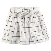 Girls 4-8 Carter's Windowpane Flannel Skirt
