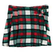 Girls 4-8 Carter's Flannel Plaid Pleated Skirt