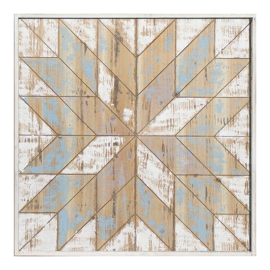 Wood Starburst Framed Wall Art