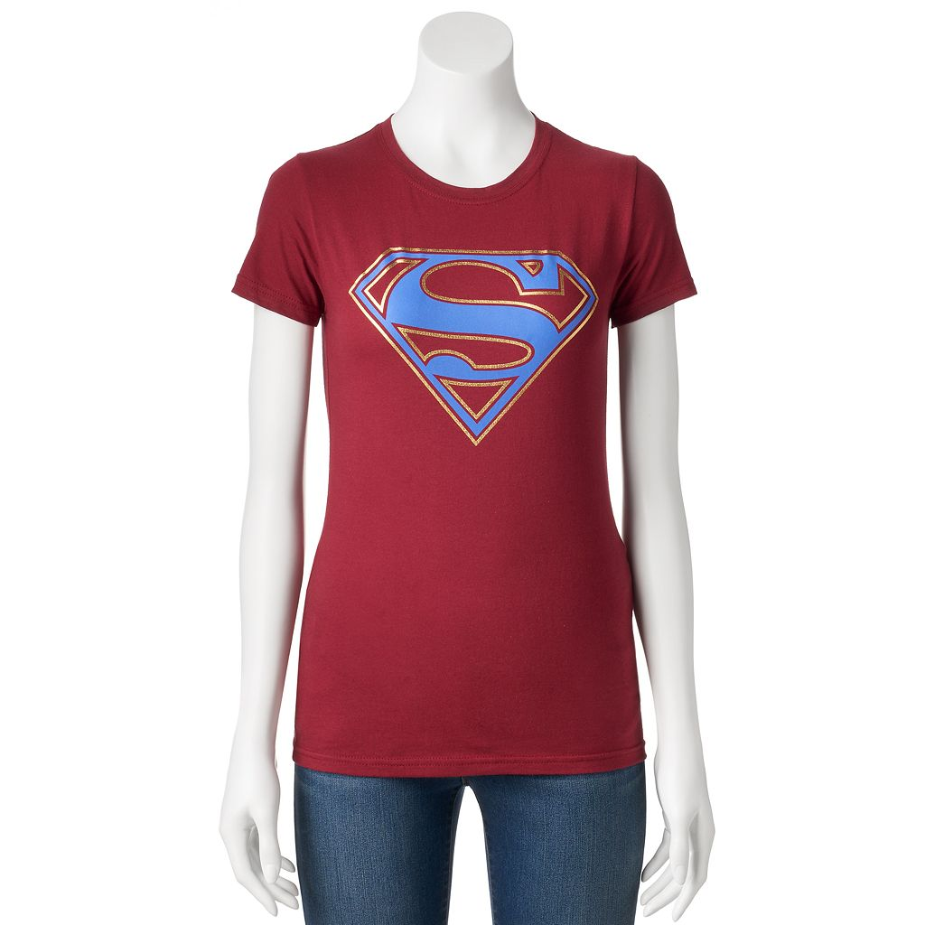 Juniors' DC Comics Superman Metallic Logo Graphic Tee