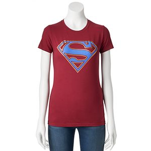 Juniors' DC Comics Superman Metallic Logo Graphic Tee