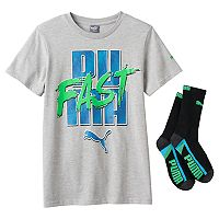 Boys 8-20 PUMA Tee & Sock Set