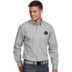 Men's Antigua Toronto Raptors Associate Plaid Button-Down Shirt