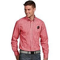 Men's Antigua Portland Trail Blazers Associate Plaid Button-Down Shirt