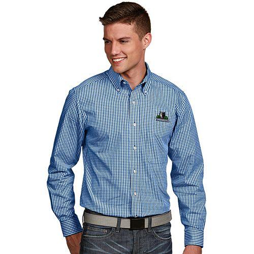 Men's Antigua Minnesota Timberwolves Associate Plaid Button-Down Shirt