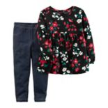Girls 4-8 Carter's Floral Tunic Top & Jeggings Set