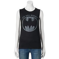 Juniors' DC Comics Batman 'Up All Night' Muscle Graphic Tank