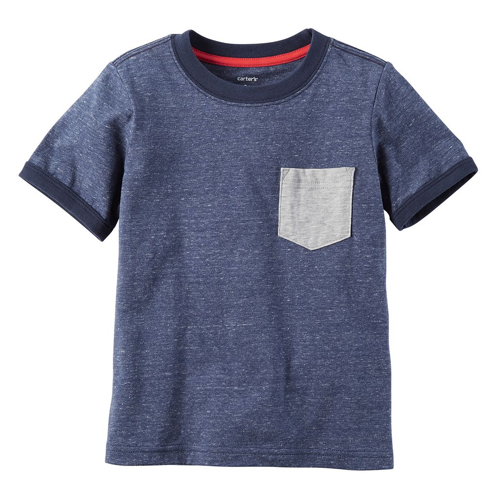 Boys 4-8 Carter's Pocket Slubbed Ringer Tee