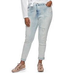 Juniors' Plus Size Mudd® Distressed Ankle Skinny Jeans