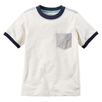Boys 4-8 Carter's Pocket Slubbed Contrast Ringer Tee