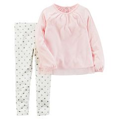Girl's 4-8 Carter's 2 pc Tulle Top & Star Legging Set