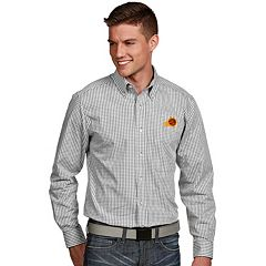 Men's Antigua Phoenix Suns Associate Plaid Button-Down Shirt