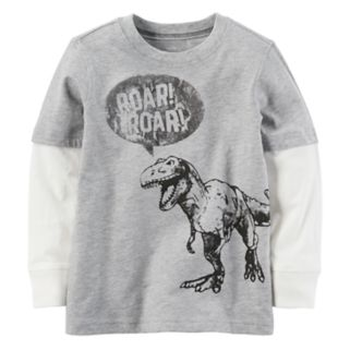 "Boys 4-7 Carter's Dinosaur ""Roar"" Mock-Layer Graphic Tee"
