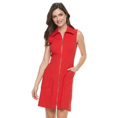 Women's Sharagano Crepe Shirtdress
