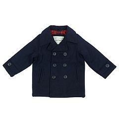 Boys 4-7 Carter's Faux Wool Midweight Peacoat