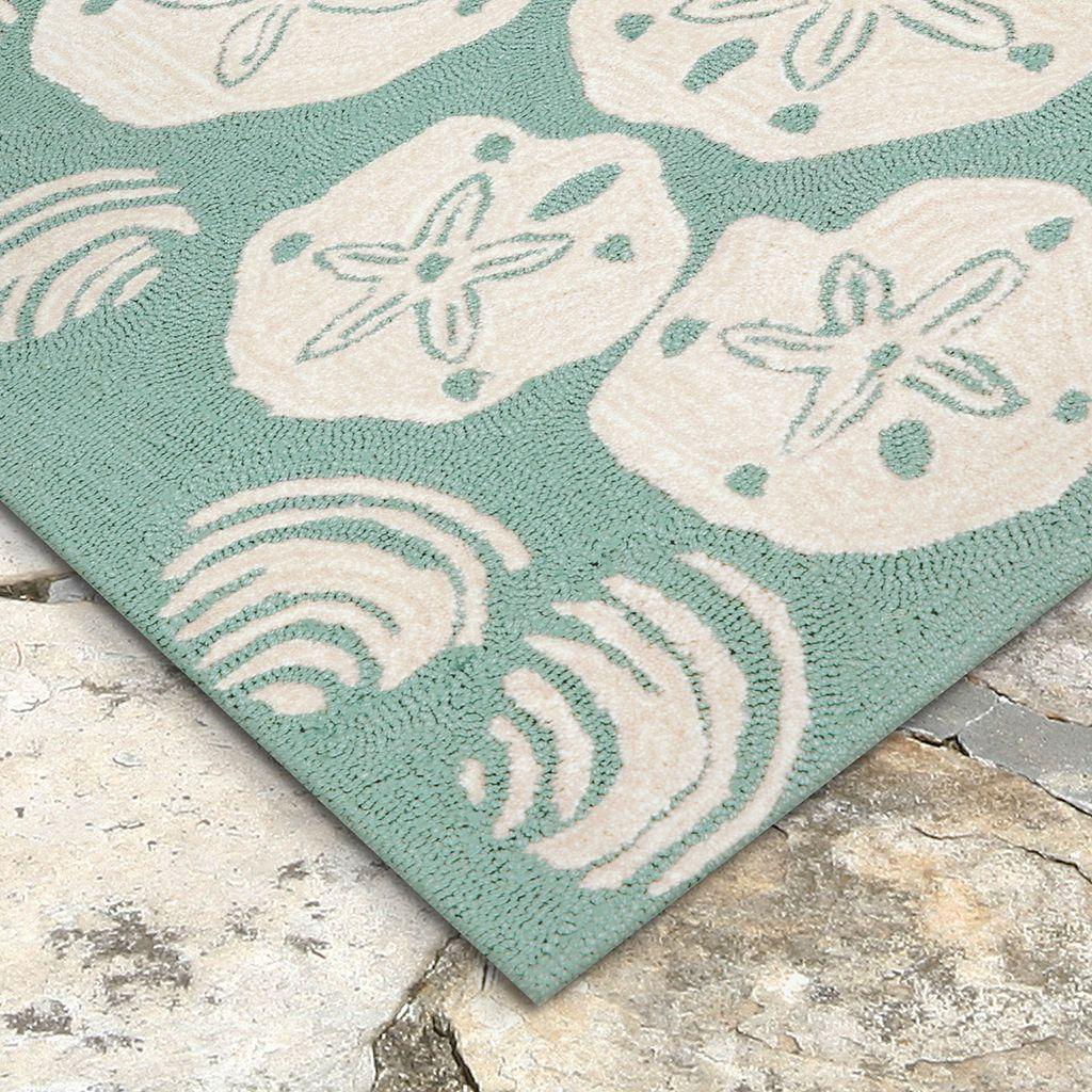 Liora Manne Front Porch Shell Toss Indoor Outdoor Rug