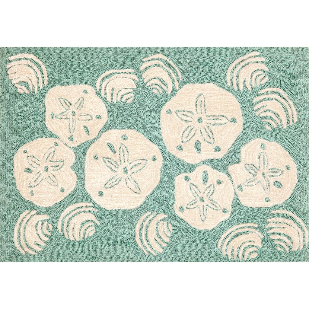Trans Ocean Imports Liora Manne Front Porch Shell Toss Indoor Outdoor Rug