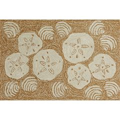 Liora Manne Front Porch Shell Toss Indoor Outdoor Rug
