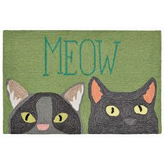 Liora Manne Front Porch ''Meow'' Indoor Outdoor Rug