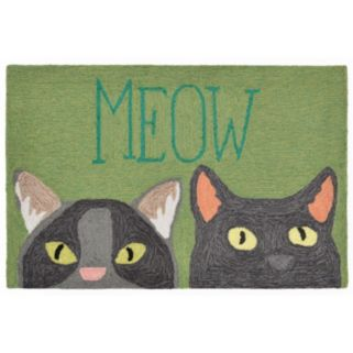 Trans Ocean Imports Liora Manne Front Porch ''Meow'' Indoor Outdoor Rug