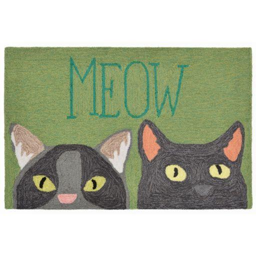 Liora Manne Front Porch ''Meow'' Indoor Outdoor Rug