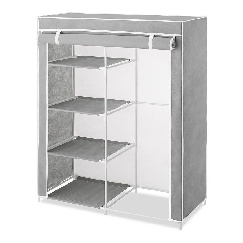 Whitmor Compact Clothing Organizer, Grey Perfect for small spaces, this Whitmor Compact Clothing organizer helps keep your clothes nice and neat.FEATURES 42'' x 34.25'' x 15.75'' 4 shelves Free-standing CONSTRUCTION & CARE Metal, plastic, polypropylene Wipe clean  Size: One Size. Color: Grey. Gender: unisex. Age Group: adult.