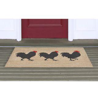 Liora Manne Front Porch Roosters Indoor Outdoor Rug