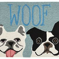 Trans Ocean Imports Liora Manne Front Porch ''Woof'' Indoor Outdoor Rug