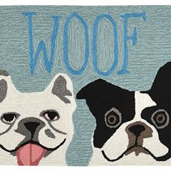 Liora Manne Front Porch ''Woof'' Indoor Outdoor Rug