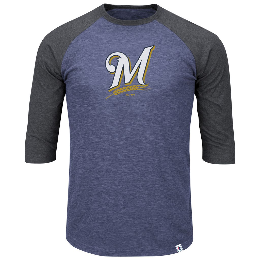Big & Tall Majestic Milwaukee Brewers Baseball Tee