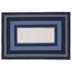 Liora Manne Newport Multi Border Indoor Outdoor Rug