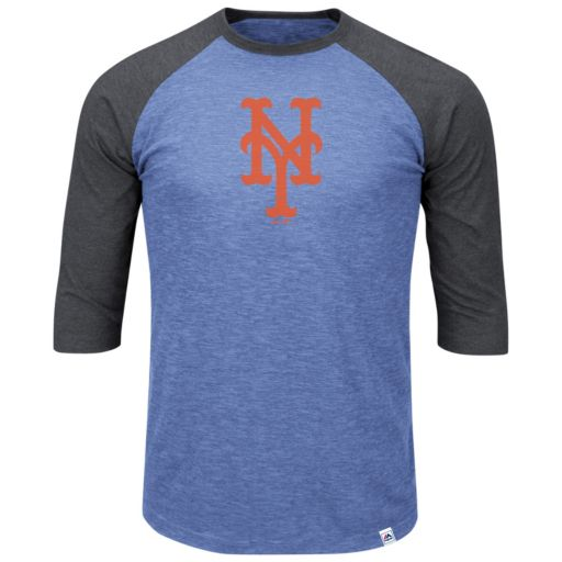 Big & Tall Majestic New York Mets Baseball Tee