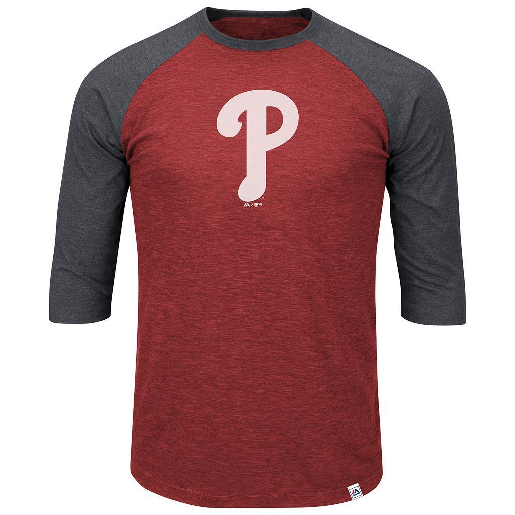 Big & Tall Majestic Philadelphia Phillies Baseball Tee