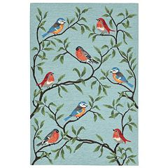 Liora Manne Ravella Birds On Branches Indoor Outdoor Rug