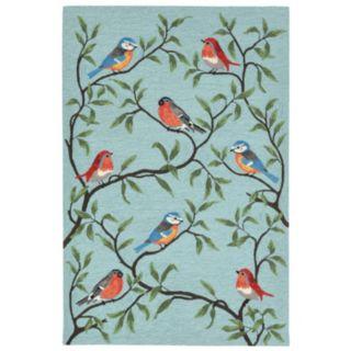 Liora Manne Ravella Birds On Branches Indoor Outdoor Rug