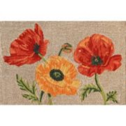 Liora Manne Ravella Icelandic Poppies Indoor Outdoor Rug