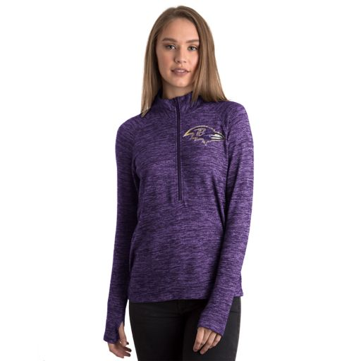 Women's 5th & Ocean by New Era Baltimore Ravens Space-Dyed Pullover