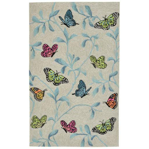 Liora Manne Ravella Butterflies On Tree Indoor Outdoor Rug