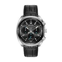 Bulova Men's CURV Leather Chronograph Watch - 98A155