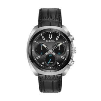 Bulova Men's CURV Leather Chronograph Watch - 98A155