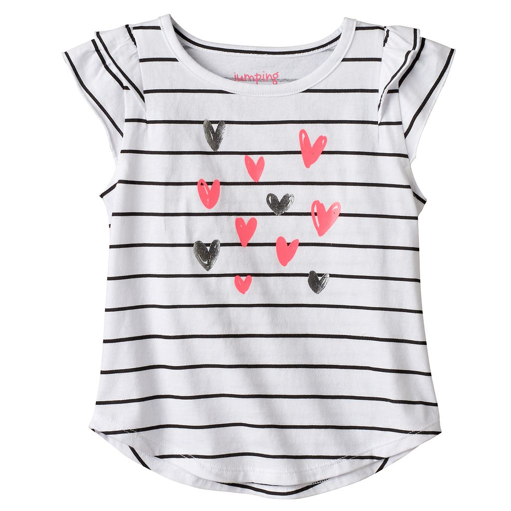 Toddler Girl Jumping Beans® Striped Heart Tee