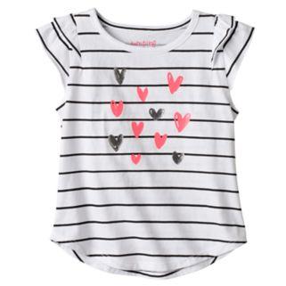 Toddler Girl Jumping Beans® Striped Heart Tee