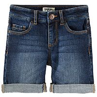 Girls 4-12 OshKosh B'gosh® Cuffed Dark Denim Shorts