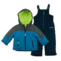 Boys 4-7 Carter's Colorblock Jacket & Bib Snowpants Snowsuit Set