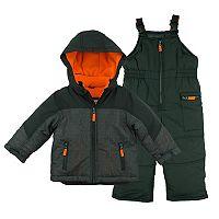 Boys 4-7 Carter's Colorblock Jacket & Bib Snowpants Snowsuit Set