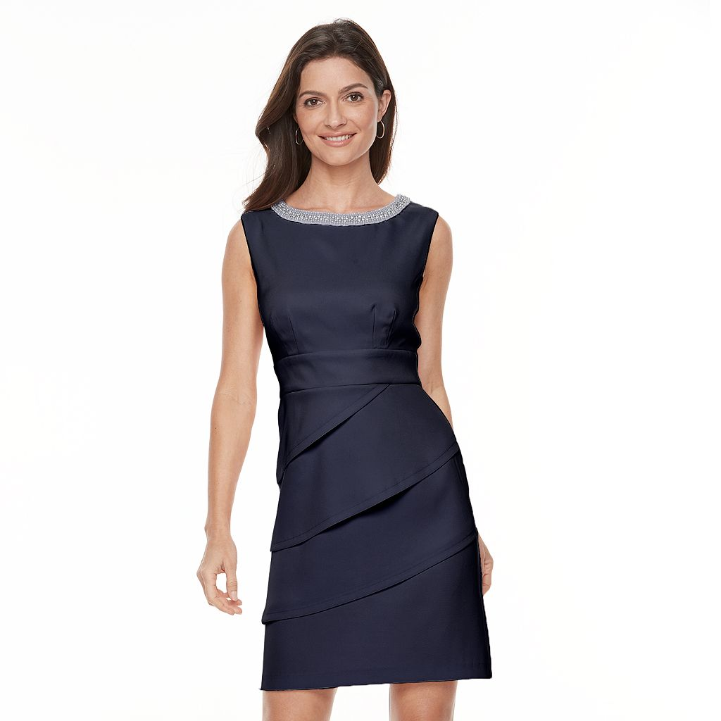 Women's Connected Apparel Tiered Sheath Dress