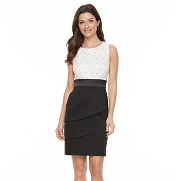 Women's Connected Apparel Tiered Sequin Sheath Dress