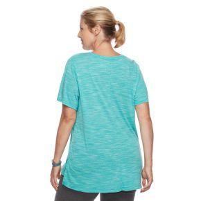Plus Size Tek Gear® Textured Voop Neck Tee