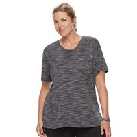 Plus Size Tek Gear® Textured Voop Neck Tee