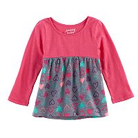 Baby Girl Jumping Beans® Print Long-Sleeve Babydoll Tunic